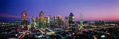 Night, Dallas, Texas, Usa Art Print