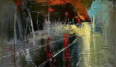 Painting - Night by David Figielek