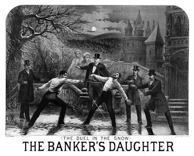 Banker Painting - Night Duel, C1879 by Granger