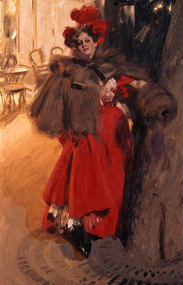 Night Effect Art Print by Anders Zorn