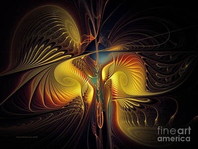 Fractal Geometry Digital Art - Night Exposure by Karin Kuhlmann