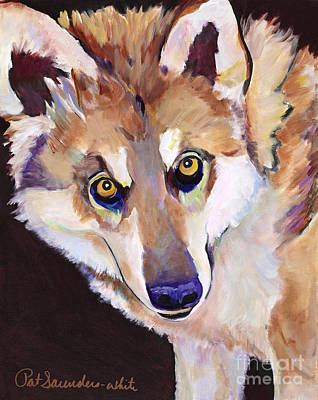 Night Eyes Art Print by Pat Saunders-White