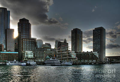 Art Print featuring the photograph Night Fall At The Harbor by Adrian LaRoque