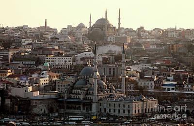 Photograph - Night Falling On Istanbul by John Rizzuto