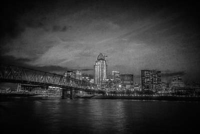 Landscape Photograph - Night Falls On Cincinnati by Erwin Spinner
