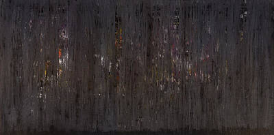 Painting - Night Falls On Manhattan by James Mancini Heath