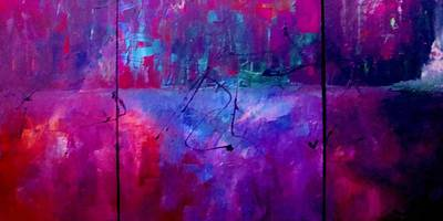 Art Print featuring the painting Night Falls Upon by Lisa Kaiser