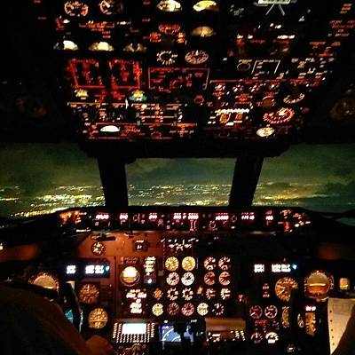 Jet Photograph - Night Flight, The Business End Of The by Dan Piraino