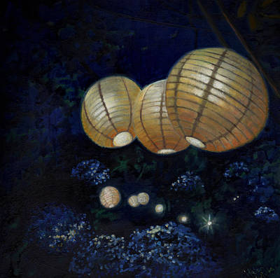Painting - Night Garden by Helen White