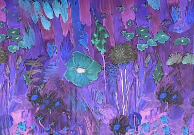 Moonlit Mixed Media - Night Garden by Jen Tiller