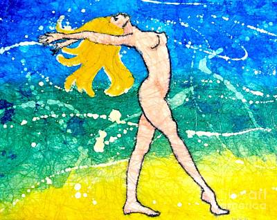 Dancing On The Beach Painting - Night Goddess by Martha Kuper Brinson