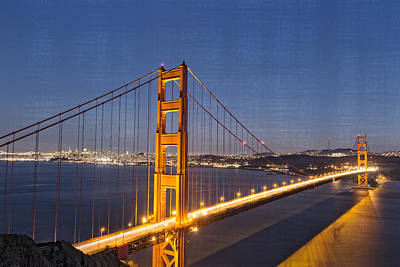 Photograph - Night Image Golden Gate Bridge by James Hammond