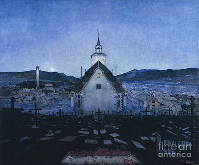 Harald Painting - Night by Harald Sohlberg