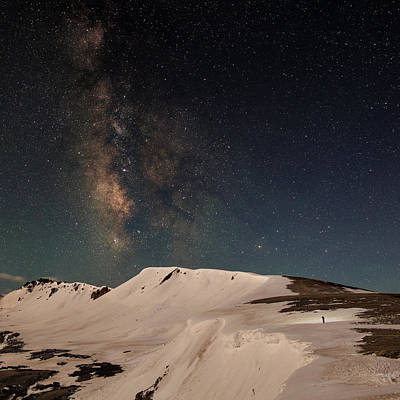 Night Hike To The Stars On Independence Pass Art Print by Mike Berenson