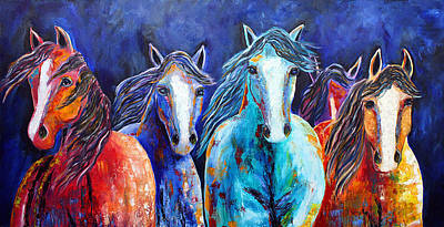 Night Horse Rendezvous Art Print