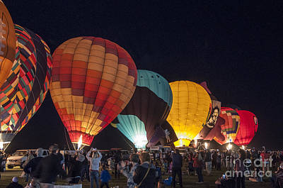 Photograph - Night Hot Air Balloon Festival by Kirt Tisdale