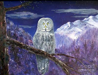 Night Hunter Art Print by Lee Piper