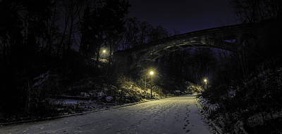 Bridge Photograph - Night Hushed The Shadowy Earth by Scott Norris