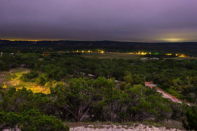 Night In A Texas Hill Country Valley Art Print