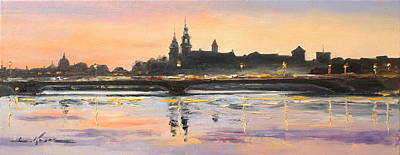 Painting - Night In Krakow by Luke Karcz
