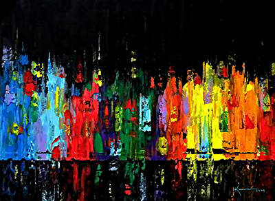 Night In Manhattan Art Print by Kume Bryant