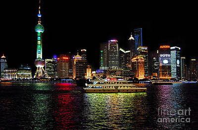 Photograph - Night In Pudong by Alexandra Jordankova