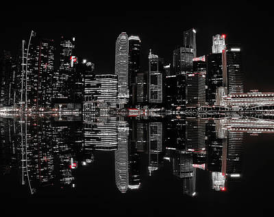 Singapore Photograph - Night In The City by