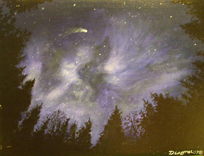 Painting - Night In The Forrest by Dan Wagner