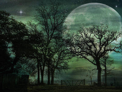 Night In The Land Of Lunasea Art Print by Shannon Story