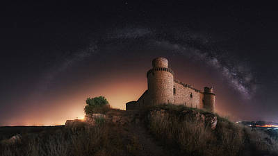 Old Fort Photograph - Night In The Old Castle by Iv?n Ferrero