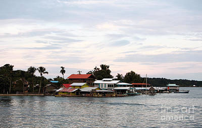 Night Is Coming At Bocas Art Print by John Rizzuto