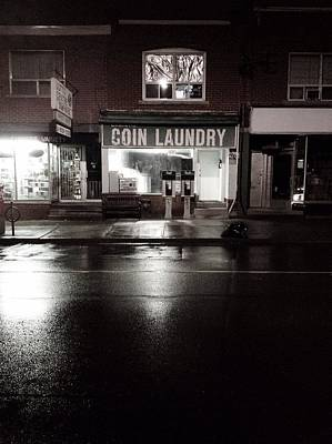 Colour Wall Art - Photograph - Night Laundry by Kreddible Trout