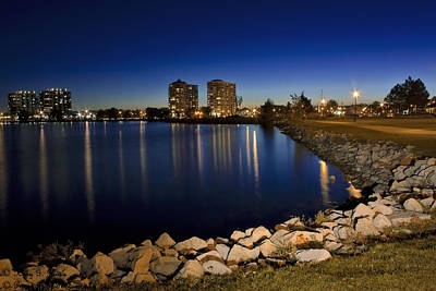 Night Light In Barrie Art Print