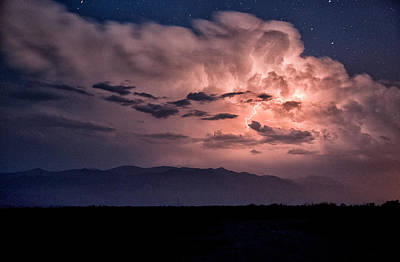 Lightning Photograph - Night Lightning by Cat Connor