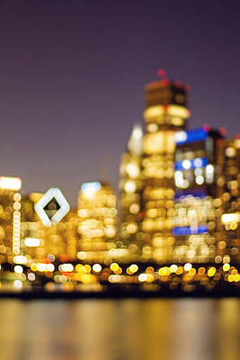 Photograph - Night Lights - Abstract Chicago Skyline by Melanie Alexandra Price