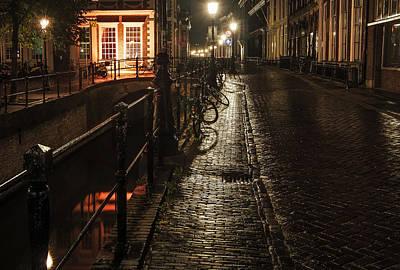 Night Scenes Photograph - Night Lights Of Utrecht. Netherlands by Jenny Rainbow
