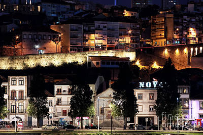 Photograph - Night Lights On Av Diogo Pinto by John Rizzuto