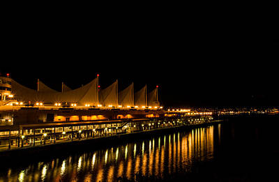 Photograph - Night Lights On The Waterfront by Haren Images- Kriss Haren