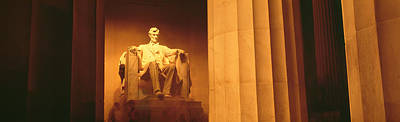 Chester Photograph - Night, Lincoln Memorial, Washington Dc by Panoramic Images