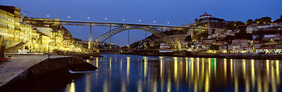Luis Photograph - Night, Luis I Bridge, Porto, Portugal by Panoramic Images