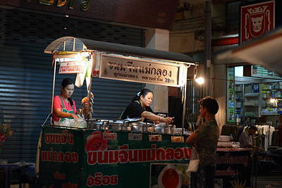 Night Market - Pak Chong Thailand - 01131 Print by DC Photographer