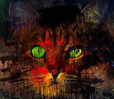 House Pet Digital Art - Night Mouse Hunting by Yury Malkov