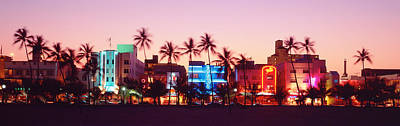 Night, Ocean Drive, Miami Beach Art Print by Panoramic Images