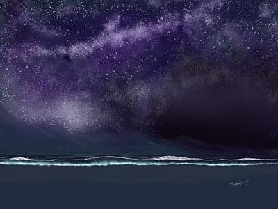 Art Print featuring the digital art Night Of A Thousand Stars by Anthony Fishburne