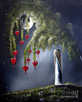 Creepy Painting - Night Of The Bleeding Hearts By Shawna Erback by Shawna Erback