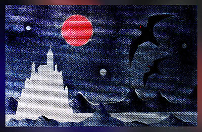 Night Of The Blood Moon Art Print by Hartmut Jager