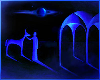 Night Of  The Blue Moon Art Print by Hartmut Jager