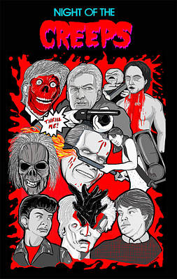Night Of The Creeps  Art Print by Gary Niles