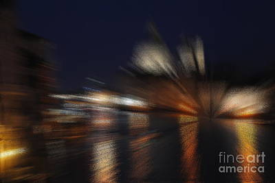 Photograph - Night On Grand Canal - Abstract by Jacqueline M Lewis