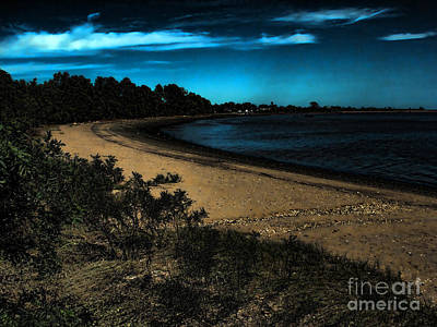 Photograph - Night On The Beach by Anne Ferguson